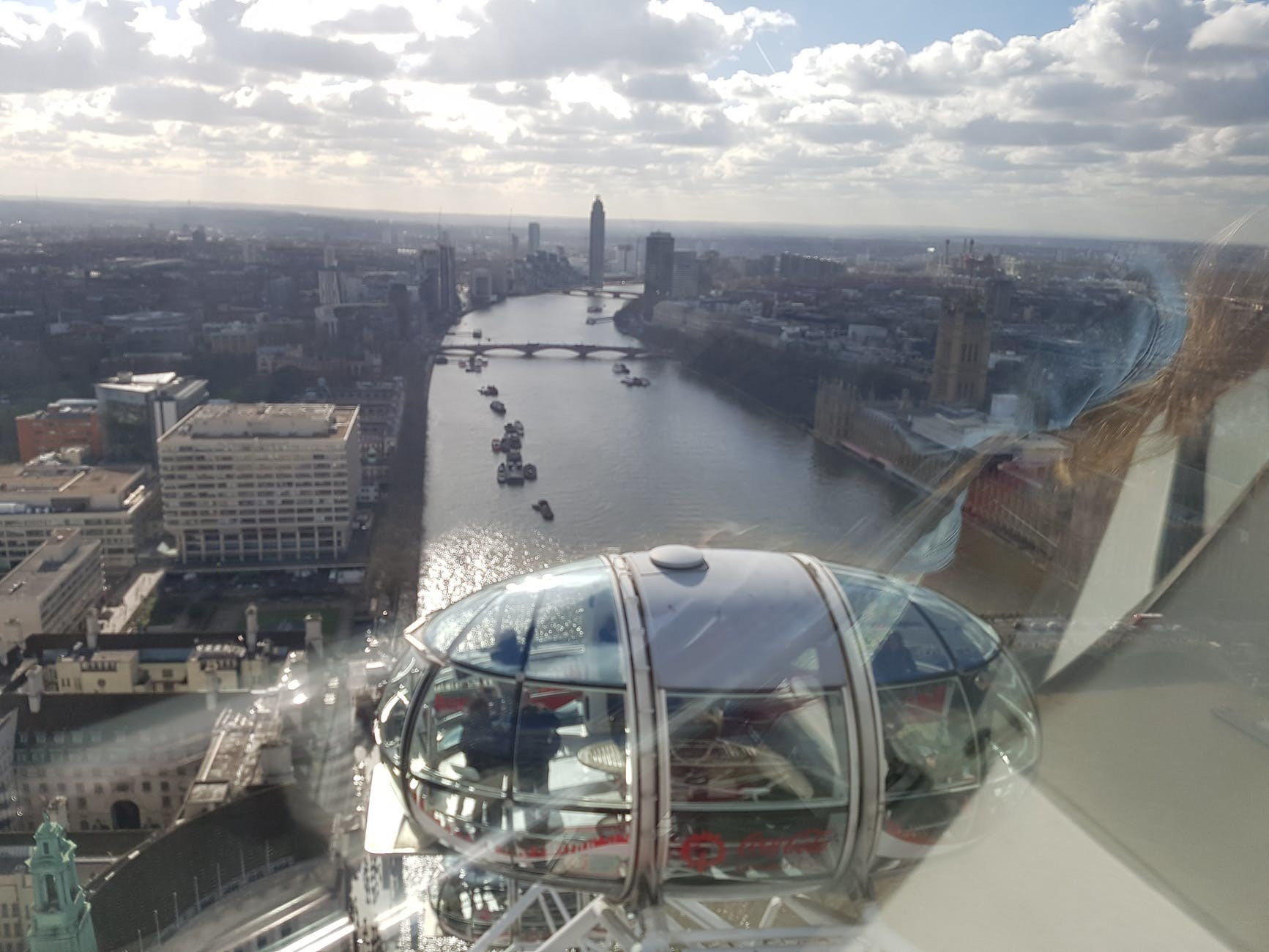 Londres vu du haut du London Eye